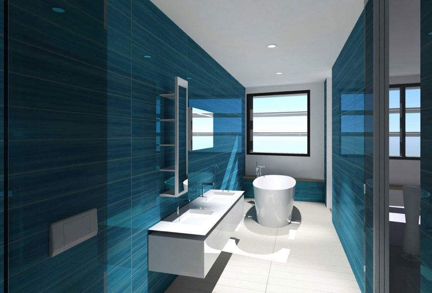 MAX Architects project Ramzi Towers Master Bathroom